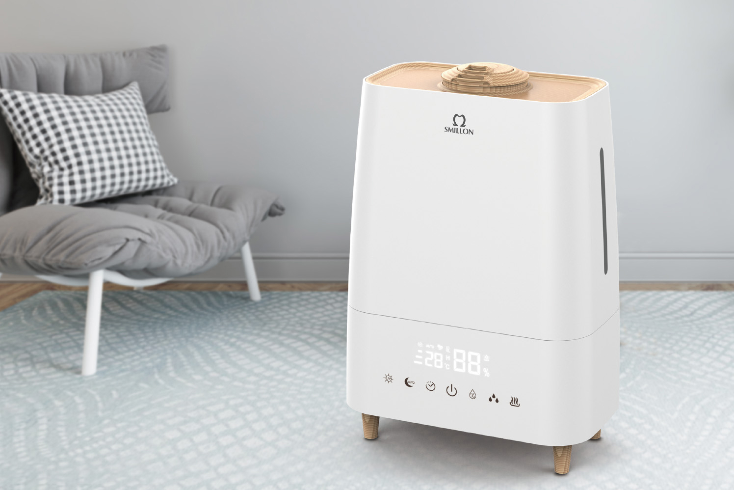 Air Purifier Humidifier with HEPA & Active Carbon Filter 703