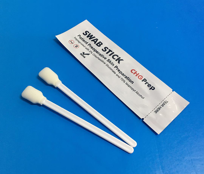 MIP-707F Skin Disinfectant Swab with Rectangular Foam Tip
