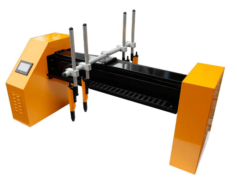 horizontal powder coating reciprocator