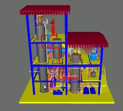 3D model-50tpd fully hydrogenation plant
